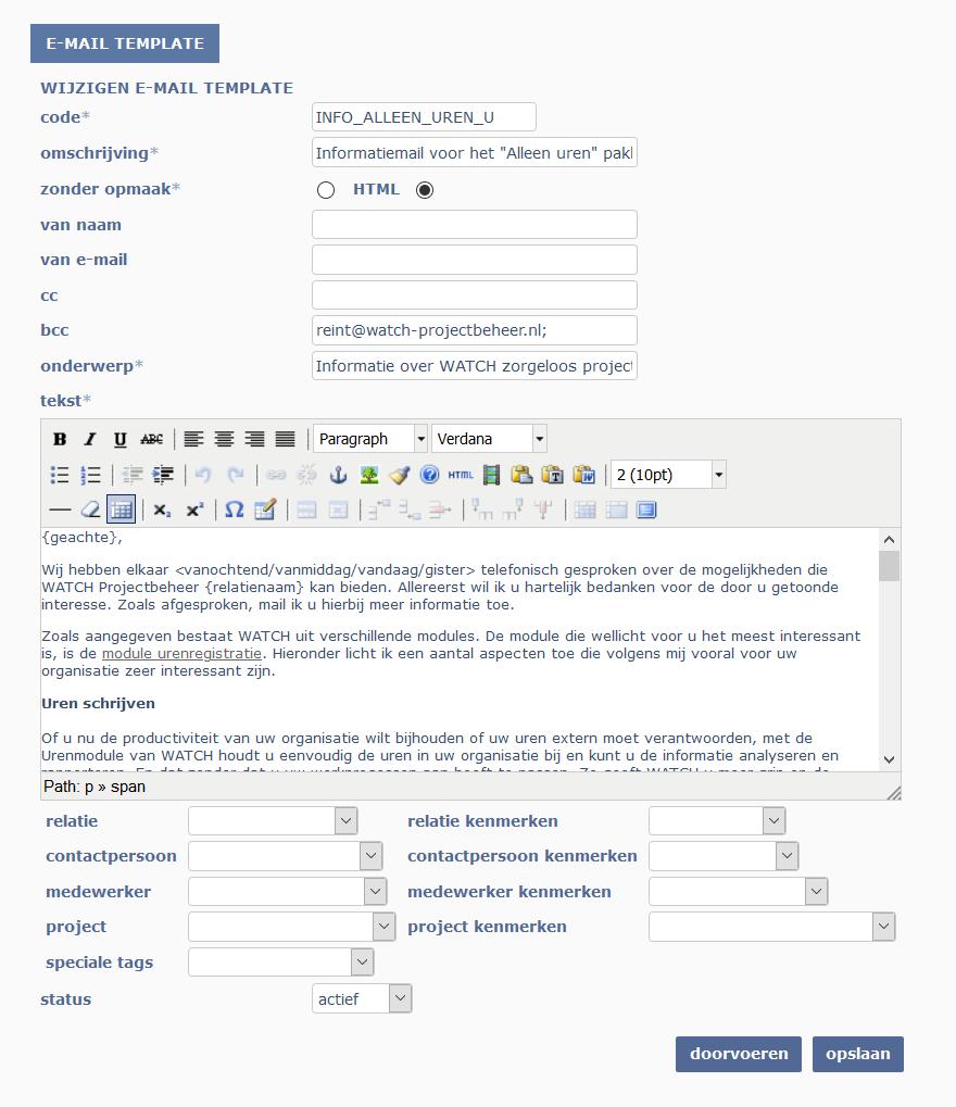 e-mailtemplate fragment